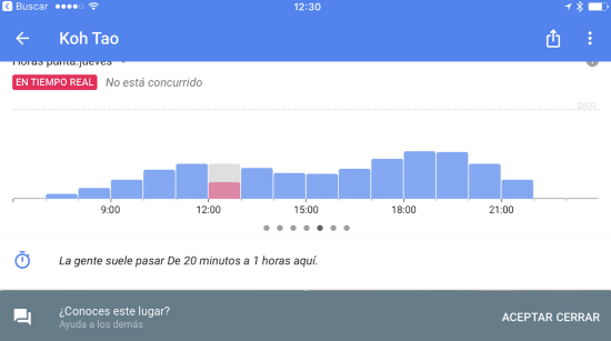 Popular Times, saber cuánta gente hay una gente en un local desde Google Maps en iOS